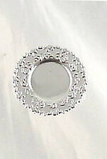 Dollhouse Miniature Fancy Round Silver Plate, A3759