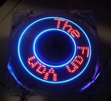 "New! Cooljag 92mm x 25mm Programmable LED Case Fan ""Make Your Own Phrases!""   0x"