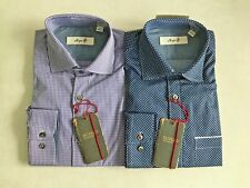 NWT Lot X 2 Men's Borgo 28 Button Down Shirts - 15 32/33, Polka Dot, Checkered