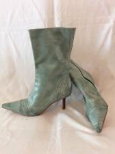 Faith Green Mid Calf Leather Boots Size 4