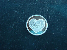 Rose Heart Flower  1 Gram .999 Silver Round Bullion Coin  Mother Wife Sweetheart