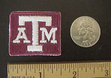 "Texas A&M University Aggies Embroidered 1 1/2"" x 1 1/4"" Iron-On Cap Mini Patch"