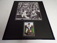 Willie Mays 16x20 Framed 1953 Topps Reprint Card & Photo Display Giants