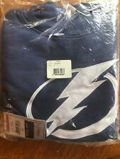 New NWT Tampa Bay Lightning L/S Hoodie Youth Size L large Sweatshirt NHL Blue