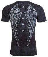 Archaic AFFLICTION Mens T-Shirt STONE RANGER Cross Tattoo Biker M-3XL $40 c