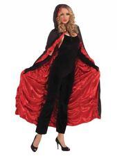 Unisex Adulti Nero & Rosso BARA Mantello Vampiro Costume Accessorio Halloween