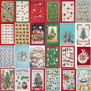 Ulster Weavers Tea Towels Christmas Cotton Linen  Madeleine Floyd Cats Dogs Xmas