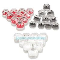 10Pcs Jewelry Organizer Ring Earring Acrylic Gift Box Storage Transparent Case