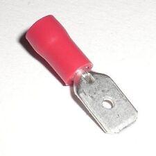 _ 100 Conector Plano Rojo 6,3 x0, 8mm Terminales de Cable 0,5 -1 , 5mm ²