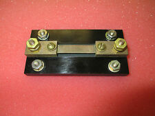 Qeco P/N PR0015 15A 50mV Brass Current Shunt Resistor Tested Good