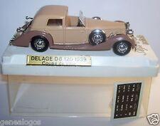 AGE D'OR SOLIDO DELAGE D8 120 1939 COUPE DE VILLE REF4051 MARRON FONCE 1/43 BOX
