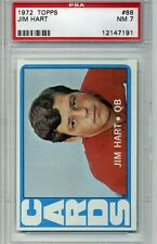 1972 Topps Football #88 - Jim Hart - PSA Graded 7 - Cardinals (Box DP)