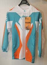 Original maillot motocross THOR Phase Jersey Teal  T : XL  blanc vert neuf