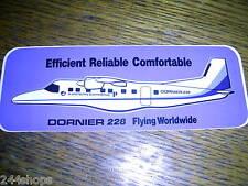 DORNIER 228 - FLYING WORLDWIDE STICKER - 2 3/4 x 7 1/2