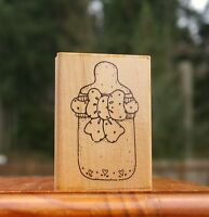 Baby Bottle Wood Mounted Rubber Stamp by JRL Design