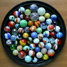 Mixed Lot of 63 Assorted Marbles Antique Vintage German Handmade Glass