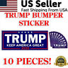10x Trump Bumper Sticker 2020 President Campaign Keep America Great MAGA Decal