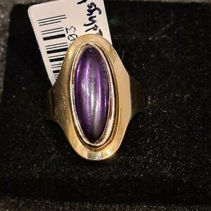 NEU, Goldring Ring 585 Gold  14 Karat, Edelstein Amethyst, massiv