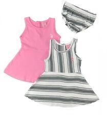 US Polo Assn Baby Girls' 2Pack Dress Set w/Panty 3/6M 6/9M 12M 18M 24M