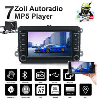 "7"" Autoradio Android 8.1 Bluetooth GPS Navi + Cámara For VW GOLF 5 PASSAT Caddy"