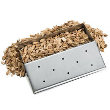 Smoker Gas Grill Box Wood Chip Bbq Smoker Accessories Stainless Steel Lid