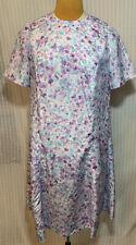 New listing Vintage Handmade Pastel Floral A Line Retro Mini Flair Shift Dress Size Medium