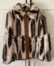 Betty Rose Faux Fur Jacket Women's Size Medium Vintage