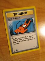 NM(1st edition) Pokemon NEW POKEDEX Card NEO GENESIS Set 95/111 First Ed Trainer