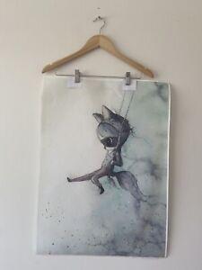 Mrs Mighetto Print On Canvas For Bedroom, Nursery Wall Art. Replica. Mr Charlie