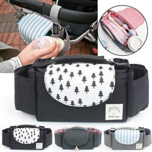 Baby Organiser Mummy Bag Stroller Buggy Storage Pram Pushchair Cup Bottle Holder