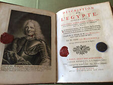 DESCRIPTION  DE  L EGYPTE  RARE  EDITION  ORIGINALE  DE  1735  AVEC  PLANCHES