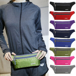 Unisex Sport Waist Pack Fanny Pack Crossbody Wallet Belt Travel Bag Waterproof