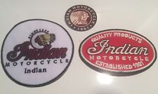 2X NEW INDIAN MOTORCYCLES  Iron On embroidered Patches  & Free Cell Sticker