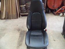 PORSCHE BOXSTER 986 - 911 996 DRIVERS SIDE SEAT BLACK LEATHERETTE SEAT K100FLF