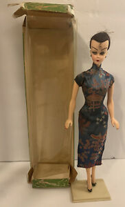 Vintage Bild Lilli Doll with Box Pre-Barbie Clone Hong Kong Japanese Curl Rare!