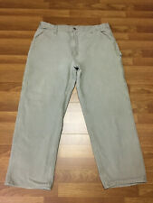 MENS 40 x 30 - Carhartt B11 Duck Dungaree Fit Industrial Ranch Work Pants Gray