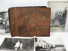1940's 50's Souvenir Photo Album w/ 52 Photos Car Kids Bikes Vacations Michigan