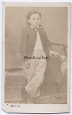 Jeune garçon par Jouve à Grenoble France cdv Vintage albumine ca 1860