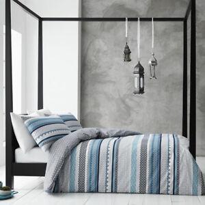 Gabrielle Blue Cotton Rich Quilt Cover Set