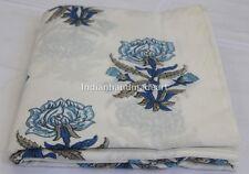 10 Yard Hand Block Print Cotton Fabric Flower Printed 100% Soft Cotton Fabric 13
