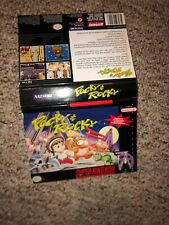 Pocky And Rocky Snes Rental Store Box Cut Out Only Super Nintendo