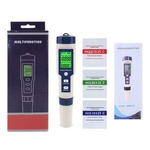 5 in 1 TDS/EC/PH/Salinity/TEMP Water Quality Tester With Electrode Replaceable