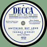 THOMAS RIDGLEY Anything But Love / Once in a Lifetime 78rpm Decca 1951 NOLA
