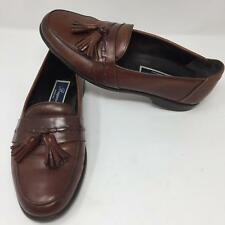 079bd180234 Bragano Brown Leather Tassle Dress Shoes Size 9 M Slip On Italy Made Cole  Haan