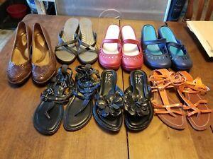 7pr. Womens Shoes 7-7.5 You Choose Clarks, Born Concept, Crocs, MIA Girl, Wet Se
