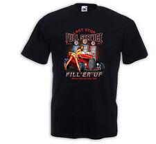 Hot Rod T-Shirt Filler Up Pinup Vintage Rockabilly Tattoo V8 US Rat