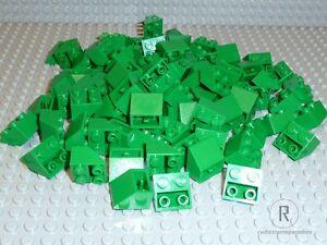 LEGO 100 Ziegel Dachsteine Slope inverted invers grün green 33° 2x2 Neu