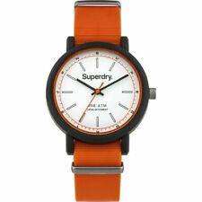 Neues AngebotSuperdry Campus syg197o Herren Orange Rubber Strap Watch