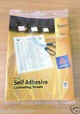 Avery 10/Pack Self-Adhesive Clear Laminating Sheets, 9 x 12, Thick 3 mil (73603)