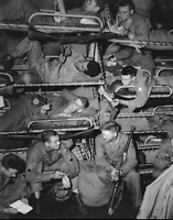 WW2 WWII Photo US Army Troops on Troopship 45th Infantry World War Two / 7207